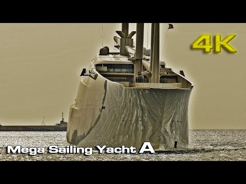 "Mega Sailing Yacht ""A"" (Docking) [4K]"