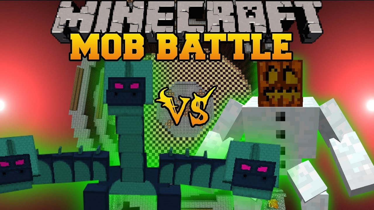 Hydra Vs Mutant Snow Golem Minecraft Mob Battles
