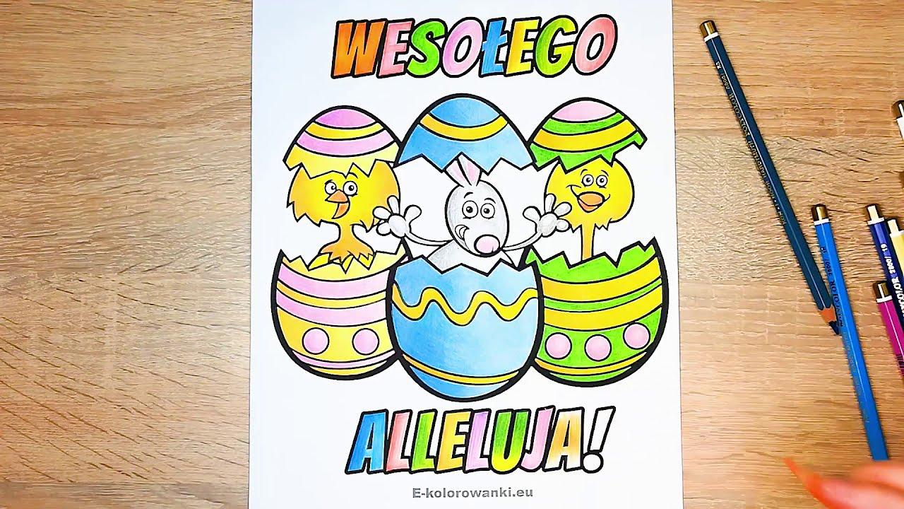 Wielkanocne Kolorowanki Do Wydruku Kartki Na Wielkanoc