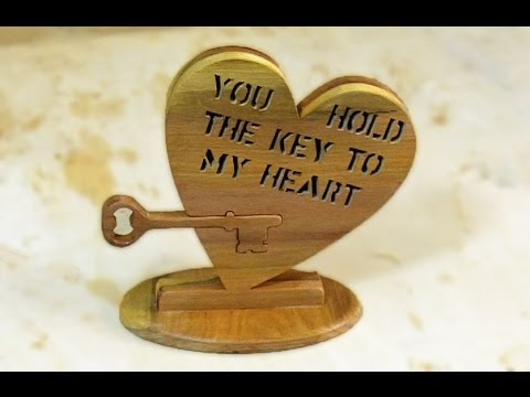 Scroll Saw Project - Valentine's Day gift - YouTube
