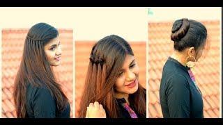 3 Easy Hairstyles for Wedding Season | Party Heatless Hairstyles | Scarlet Strokes