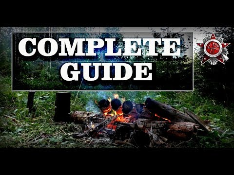 Siberian Log Fire: Most Efficient Camp And Survival Fire