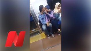 Terjadi Lagi! Sepasang Remaja Mesum Di Kereta Tertangkap Kamera