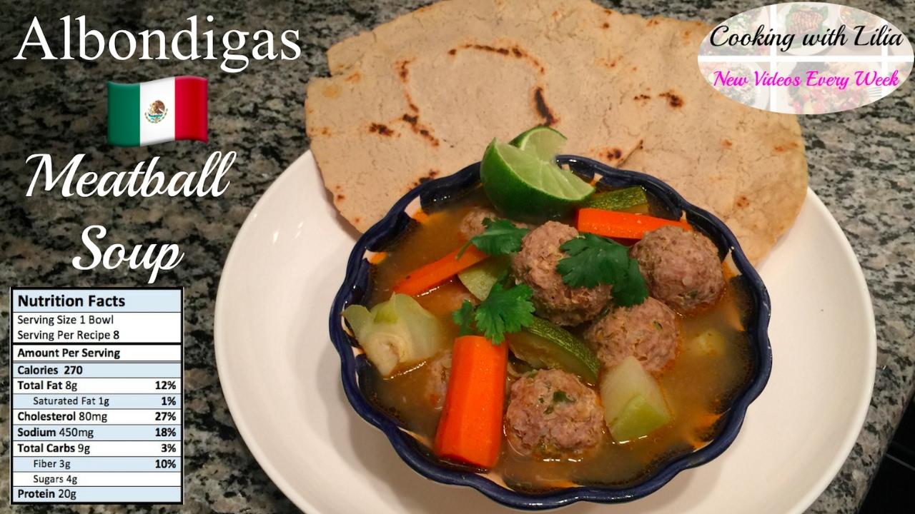 How to make Albondigas Soup - Meatball Soup Recipe ...