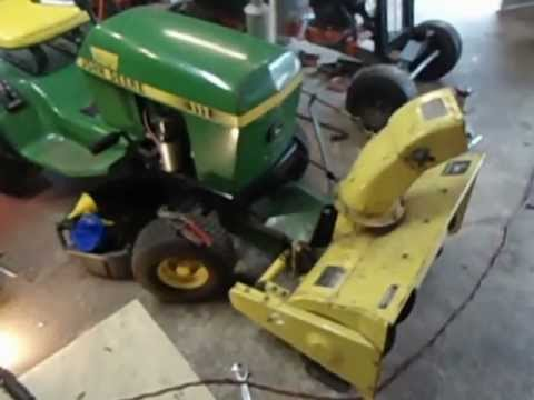 110 John Deere Tractor Wiring Diagram How To Install A John Deere 32 Quot Snowblower On A 111 Youtube