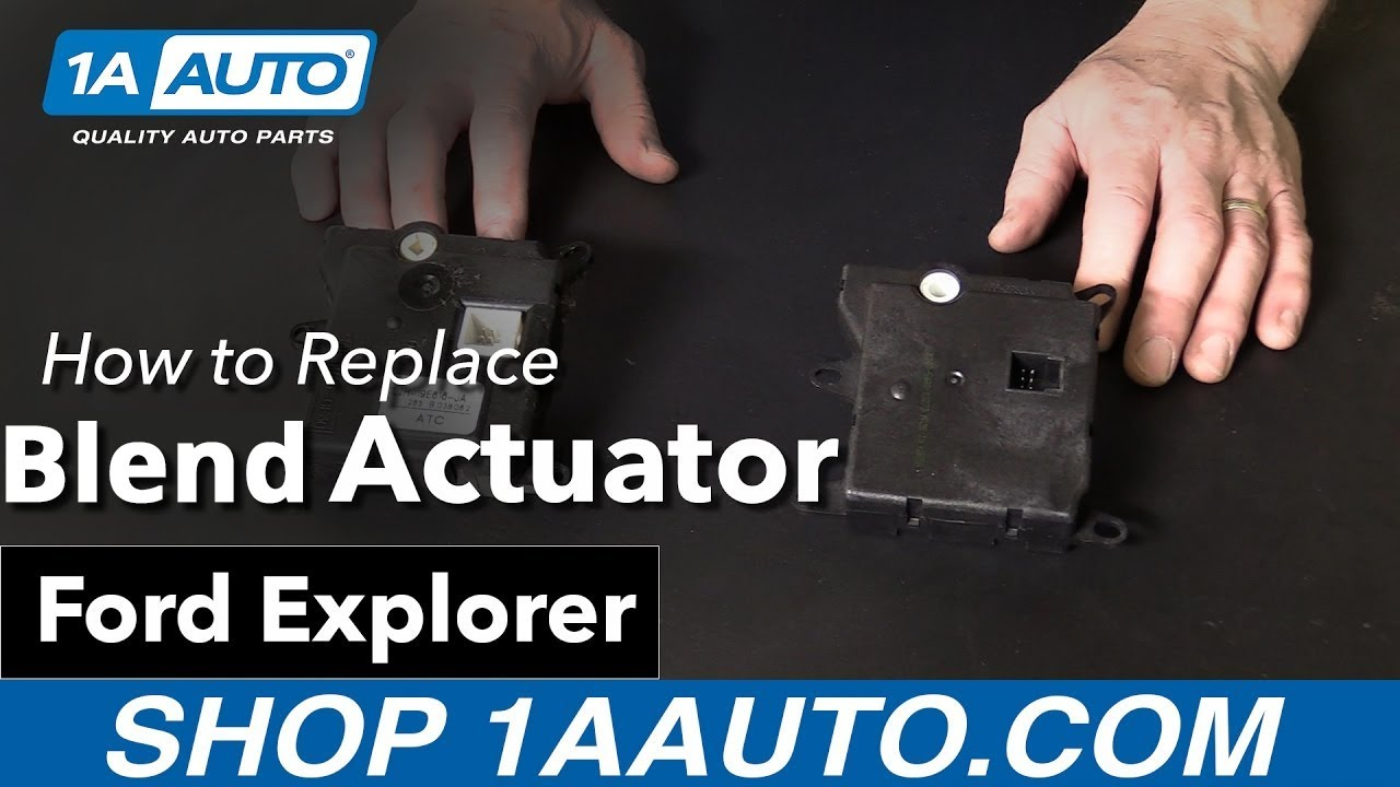 How To Replace Vent Mode Actuator 06 10 Ford Explorer Youtube 2010 F450 Fuse Diagram