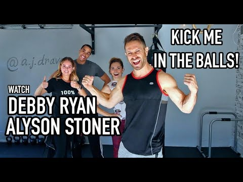 Krav Maga Class - Groin Kick Tutorial w/ Debby Ryan & Alyson Stoner - AJ Draven thumbnail
