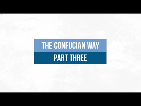 The Confucian Way 3: Confucius The Subversive