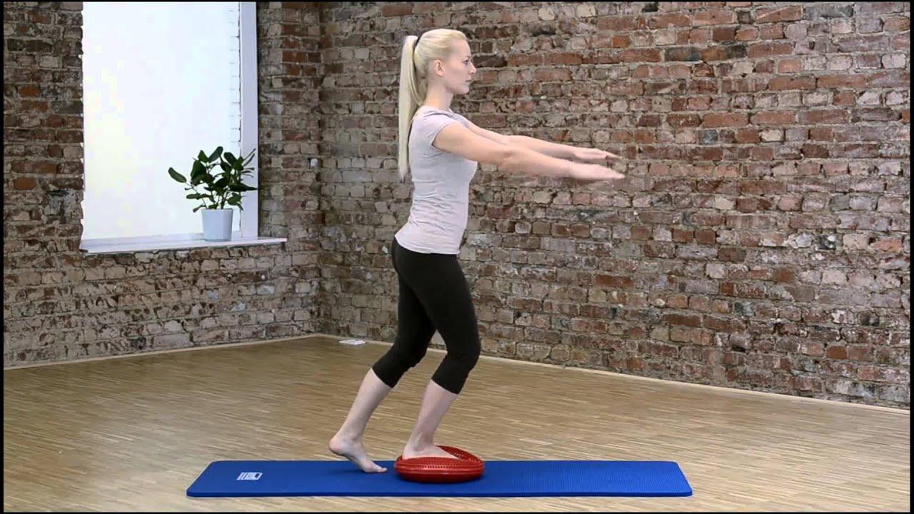 Navaris Balancekissen Ballsitzkissen mit Luftpumpe Balance Unterlage Kissen Sitzkissen R/ücken Training Noppen und Glatt