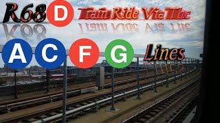 NYC Subway#64 Rare Ride On A Coney Island Bound R68 (D) Train Fulton St To Coney Island Via Culver
