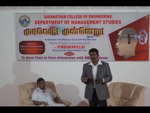 Mudivedu Munneru 2016- Part 1 Dr.K.Karthikeyan Interviewed  Shri.P.Mookapillai
