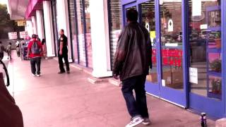99 Cents Only Store Security Guard Confrontation with Homeless Man