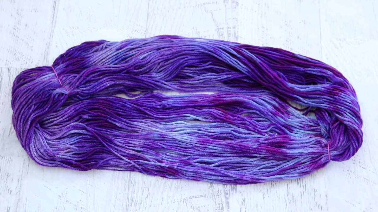 Leftover Purple Food Coloring - Space Dyed for a Variegated Tonal Yarn