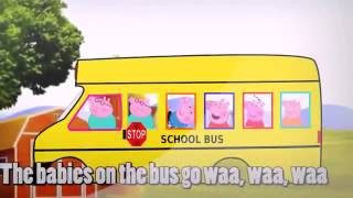 wheels on the bus go round and round   baby songs kid nursery rhymes