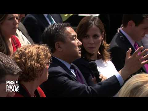 NewsHour's John Yang asks President Trump about how his Syria policy will differ