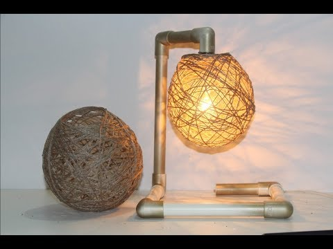 How To Make lampshade with Jute Yarn | Creative Room Decor Idea