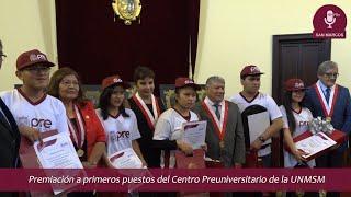 Tema: Premiación a primeros puestos CEPRE UNMSM