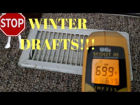 Video: Eliminate Winter drafts & STOP cold air leaks to the inside + heat loss!!!