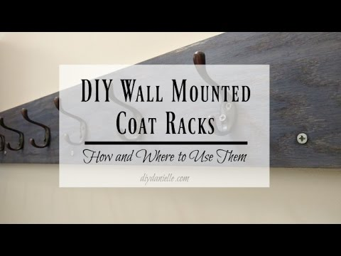 How To Build A Custom Wall Mounted Coat Rack YouTube Impressive How To Mount A Coat Rack On The Wall