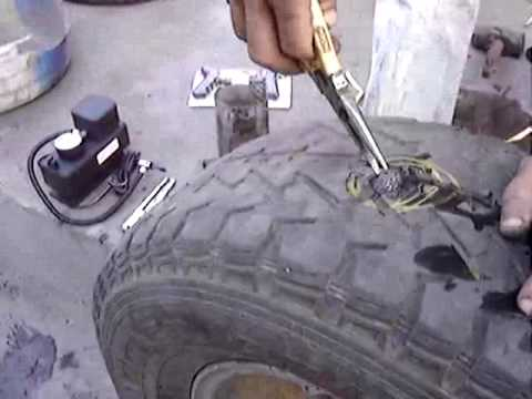 How To Repair Tubeless Tyre Puncture Demo Youtube