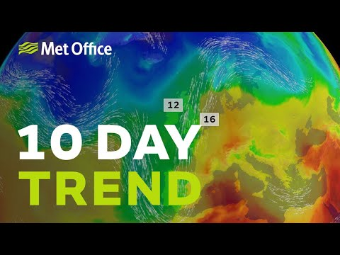 10 Day trend - Milder at the weekend, uncertain next week