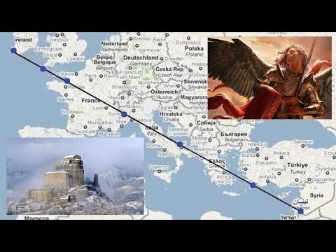 The mysterious straight line that unites seven shrines dedicated to St  Michael: coincidence?