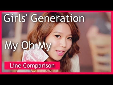 Girls' Generation(SNSD) - My Oh My (without Jessica) [Line Comparison]