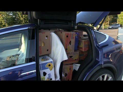 Cargo space in Model S vs X