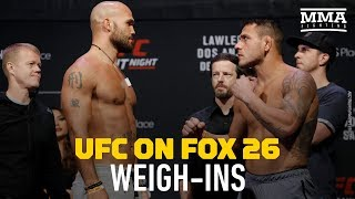 UFC on FOX 26 Ceremonial Weigh-ins - MMA Fighting