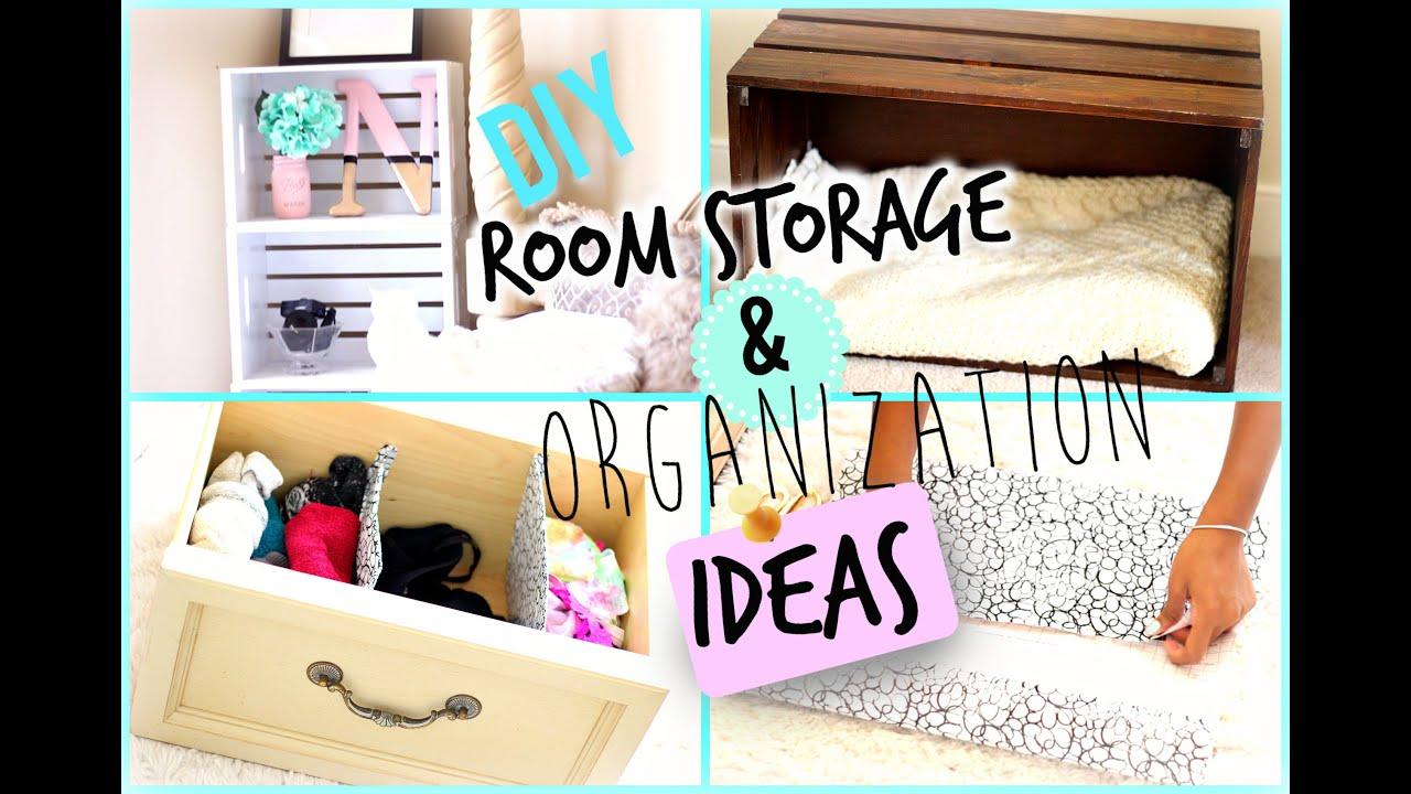 DIY Room Organization And Storage Ideas + BLOOPERS 2015