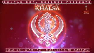 AUDIO POSTER - SUPREMACY OF KHALSA - DILJIT DOSANJH