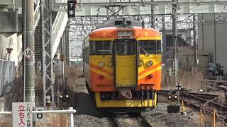 しなの鉄道北しなの線115系S9編成「台鉄色」車窓より、E257系「武田菱」も居る、長野総合車両センターを確認。