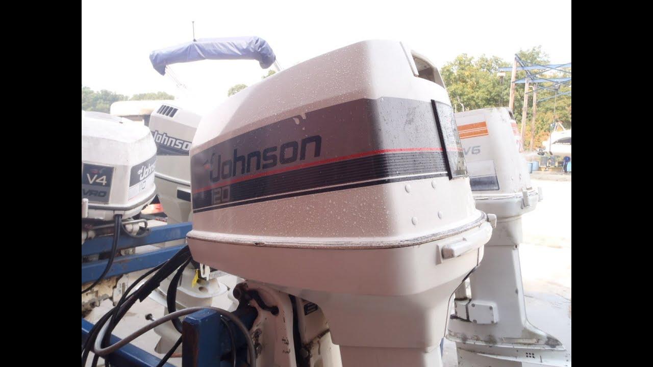 6m3566 Used 1988 Johnson J120tlcca 120hp 2 Stroke Outboard