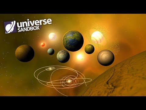 Making A Solar System Out Of Yellow Objects, Universe Sandbo