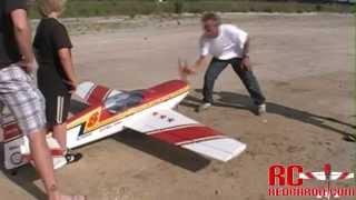 Rc Extra 300l 33% Rc Plane- 100cc Gas - Maiden Flight- May 22-2010 Pilot: Rcredbaron