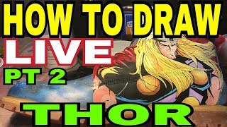 How To Draw | Thor | Custom Timberland Boots | Infinity Wars | (2018) By Gymshoe Pt 2
