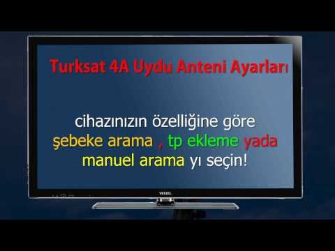 Channel setting turksat 4A satellite antenna how to adjust the antenna