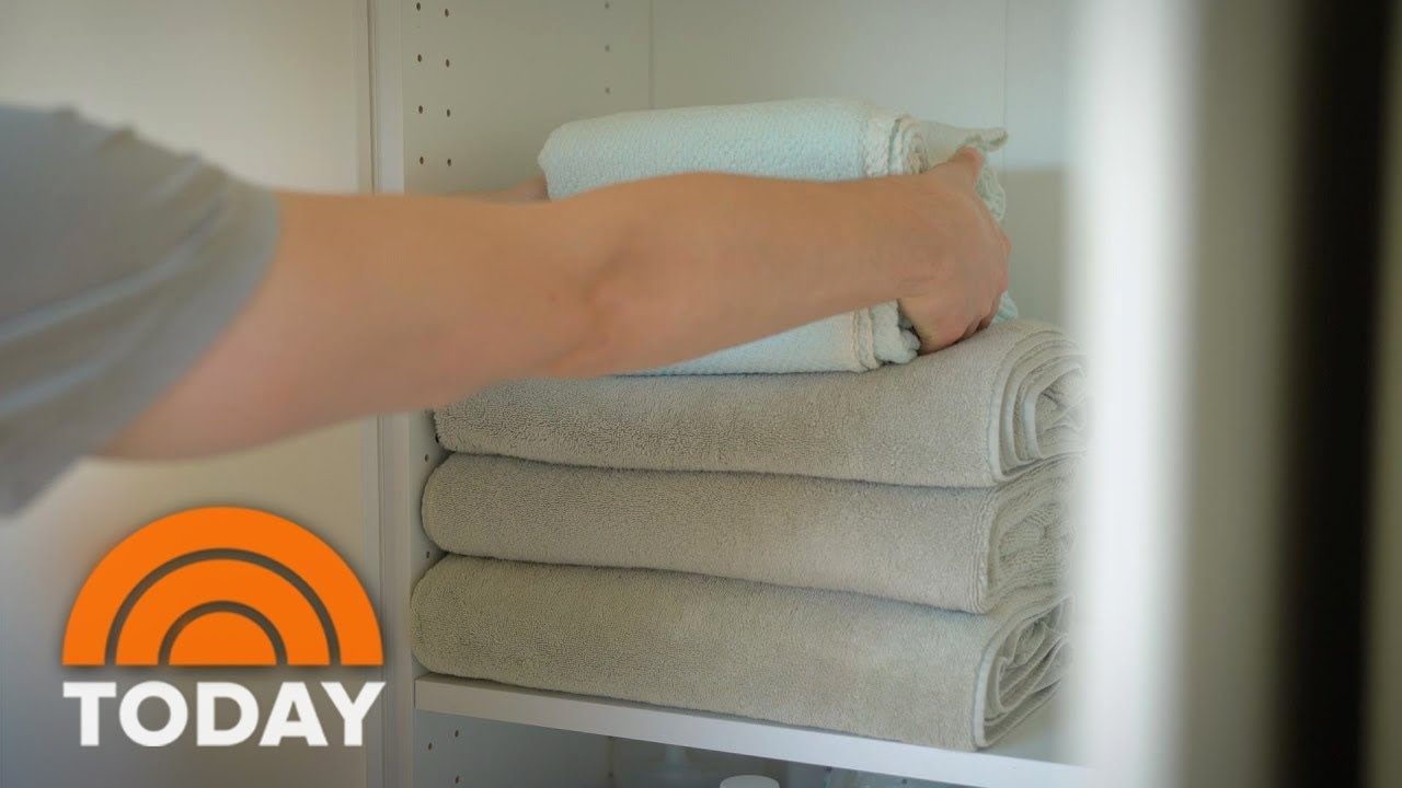 The Best Way To Fold Towels Neatly So They Fit In Any E Today