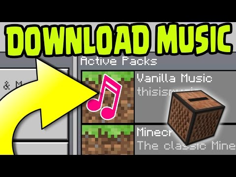 HOW To DOWNLOAD And INSTALL MUSIC On Minecraft Pocket Edition 1.0 Update! (MCPE 1.0 Update)