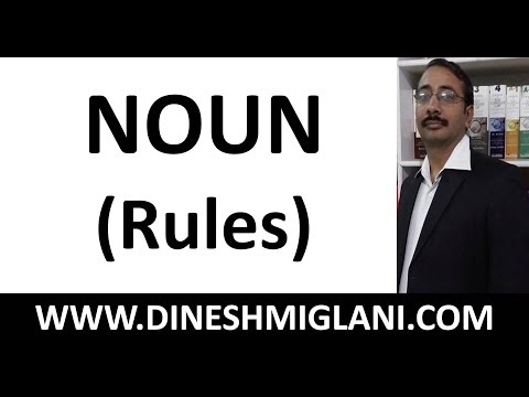 NOUN ( ENGLISH GRAMMAR RULES)
