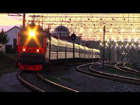 ЧС2К-869 Моргание буферами! Поезд Саранск - Москва