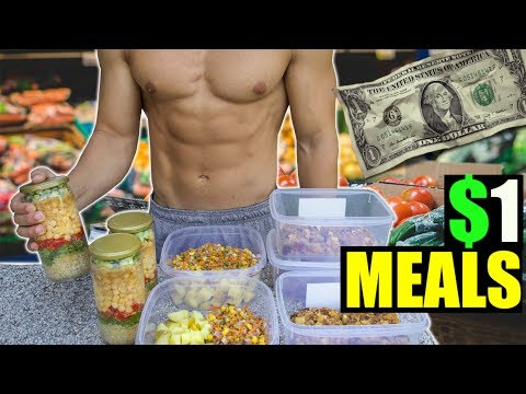 CHEAPEST 1 WEEK MEAL PREP |  1 DOLLAR MEALS | JON VENUS