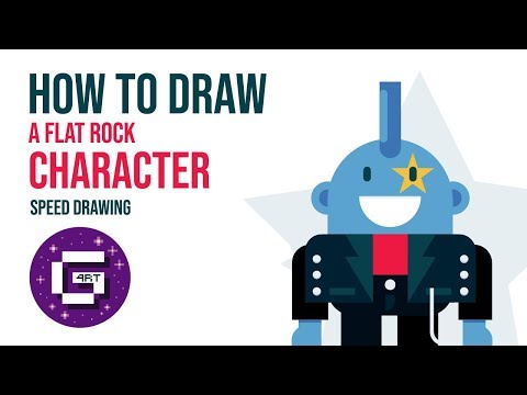 How To Make a Easy Punk Cartoon Character in adobe illustrator | tutorial thumbnail