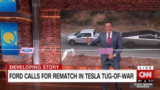 Ford challenges Tesla to tug-of-war
