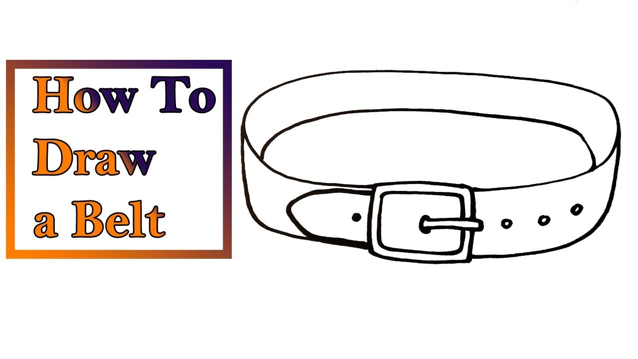 How To Draw A Belt Very Easy For Kids Youtube