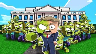Minecraft - ZOMBIE WHITE HOUSE RESCUE MISSION! (Zombie President)