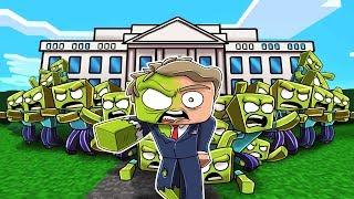 Minecraft - ZOMBIE WHITE HOUSE RESCUE MISSION! (Zombie President)