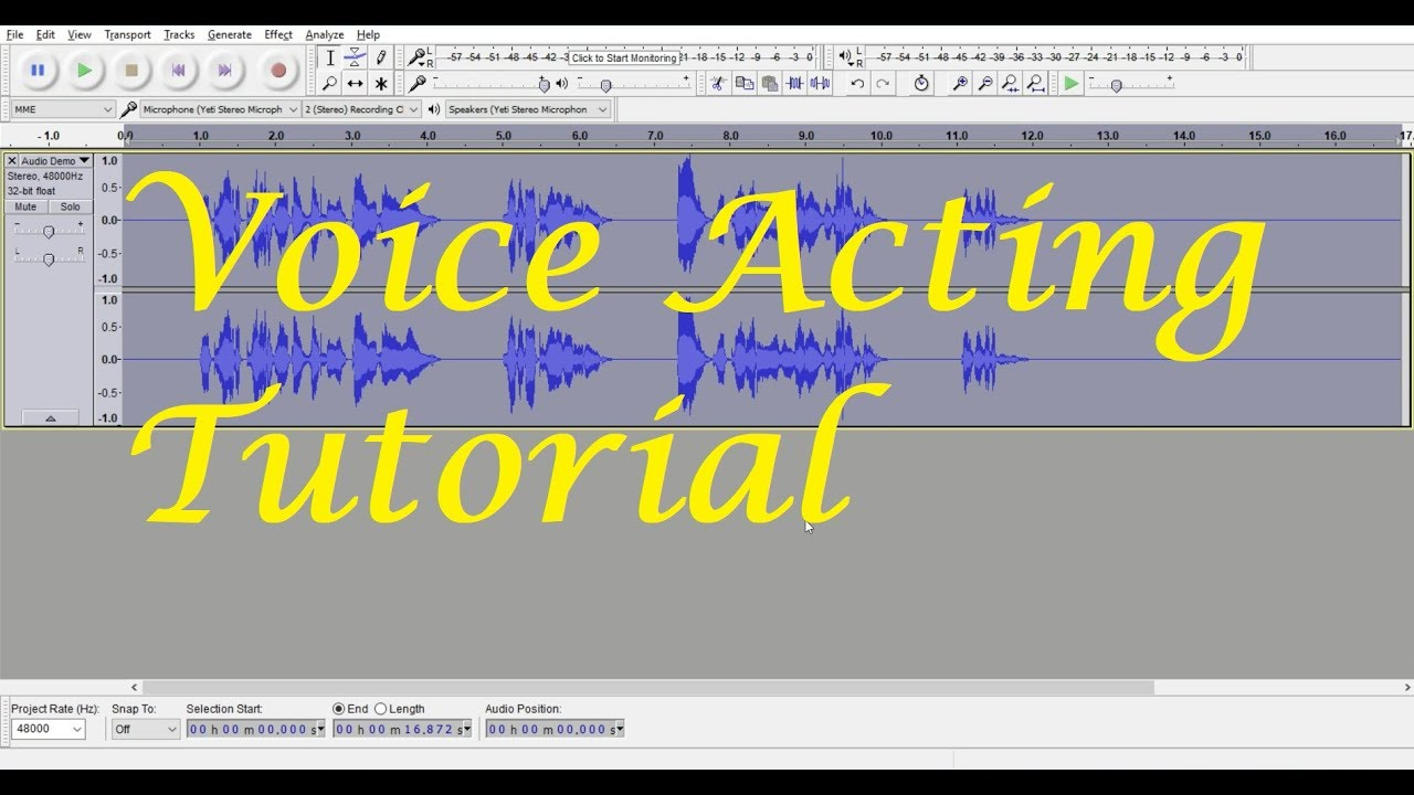 how to add voice on audacity