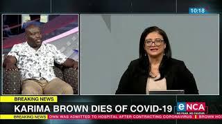 Karima Brown Remembered | Norman Munzhelele