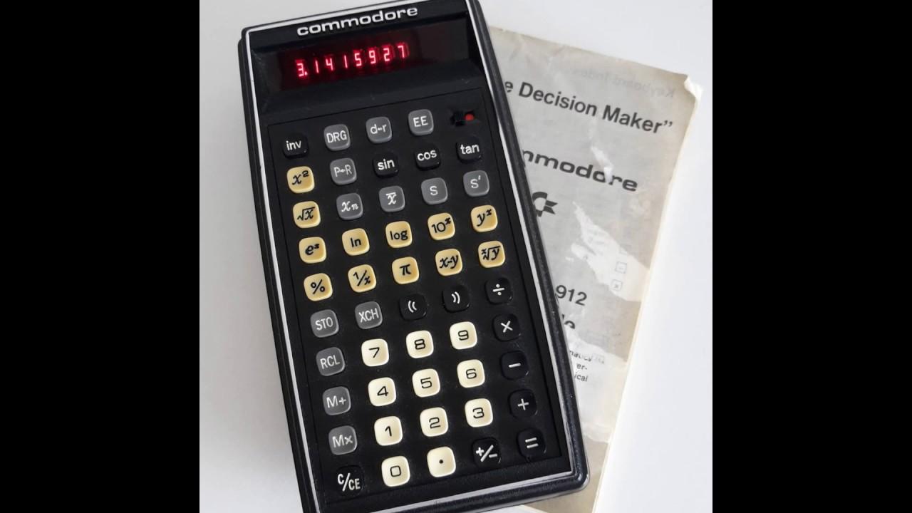 vintage calculator commodore sr 4912 the decision maker red vfd scientific